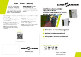 Leaflet Cyclomix® Multi Plural Component Electronic Mixing & Dosing System 5English version) SAMES KREMLIN